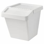 СОРТЕРА Бак мусорный,белый