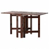 ЭПЛАРО Складной стол, садовый,коричневая морилка